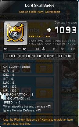 lord skull badge